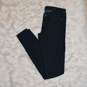 Dark wash J. Crew leggy denim skinny jeans
